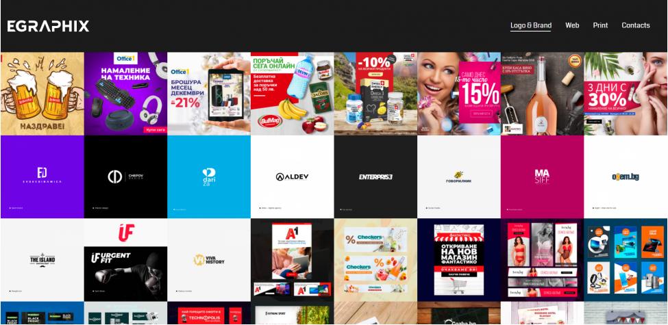 Личен уеб сайт за дизайн портфолио